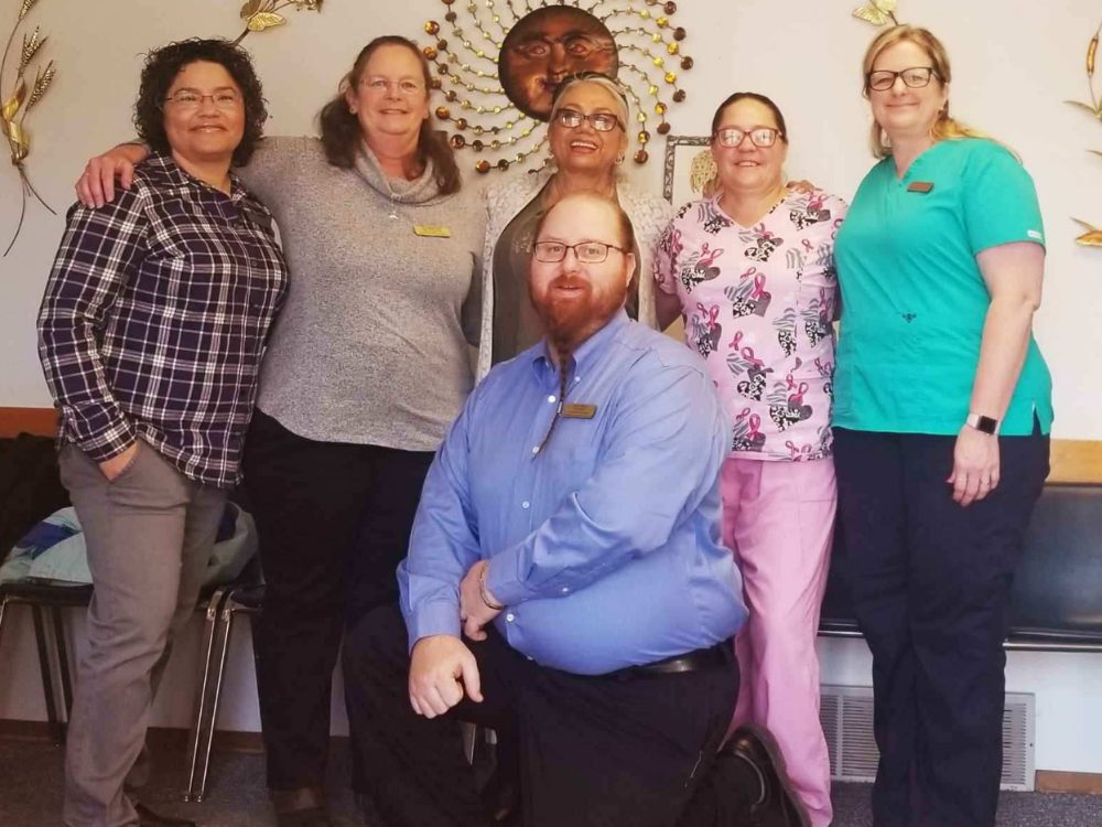 Staff from Ag Worker Health & Services clinic in Fairview, Montana